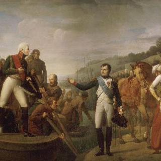 틸지트 회담 후 나폴레옹 1세와 알렉상드르 1세의 고별인사