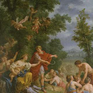 수확 : 트리프톨렘 왕에게 농업을 가르치는 세레스