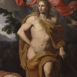 미네르바에게서 관을 받는 아폴론