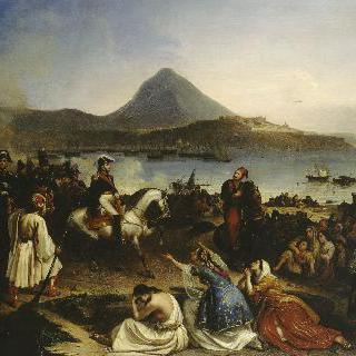 1828년 9월 경, 나바랭에서 열린 메종 장군과 이브라힘 파샤의 회견