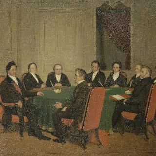 1838년 8월 3일 루이 필립의 주재로 열린 장관 회의