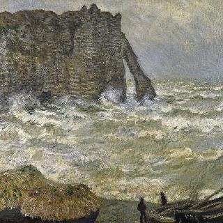 에트르타의 요동치는 바다