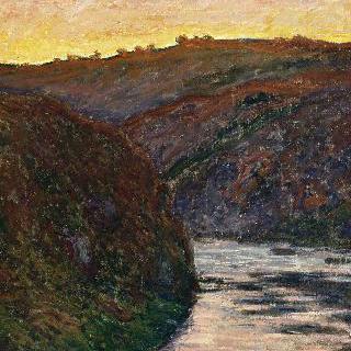 해가 지는 크뢰즈의 계곡