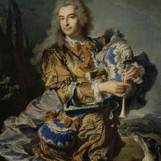 뮤제트를 연주하는 의장 가스파르 드 게이당의 초상