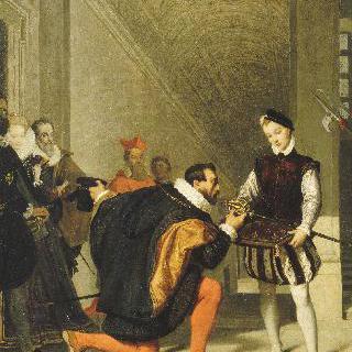 앙리 3세의 칼에 입을 맞추는  돈 페드로 데 톨레도