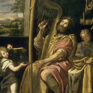 하프를 연주하는 다비드 왕