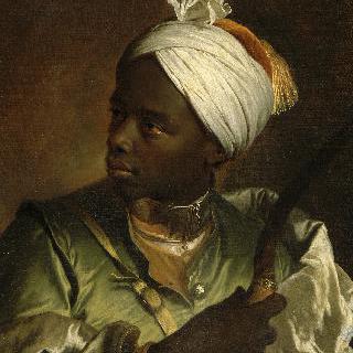활을 들고 있는 흑인의 초상