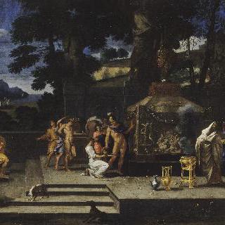 아킬레우스의 묘지에 있는 알렉상드르