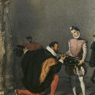앙리 4세의 칼에 입을 맞추는  돈 페드로 데 톨레도