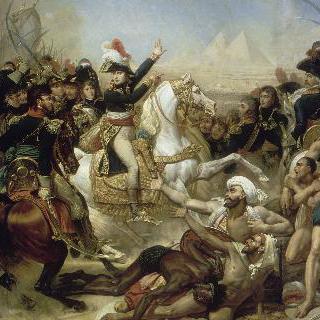 1798년 7월 21일 피라미드 전투에 앞서 군대에게 연설하는 보나파르트