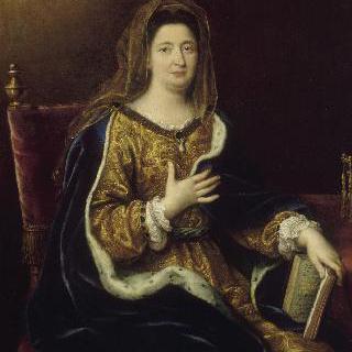 성 프란체스카 로마나의 옷을 입은 맹트농 후작부인 프랑수아즈 도비네