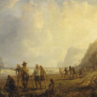 1635년 마르티니크 생 피에르 요새의 건설