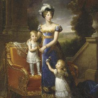 베리 공작부인과 그녀의 아이들