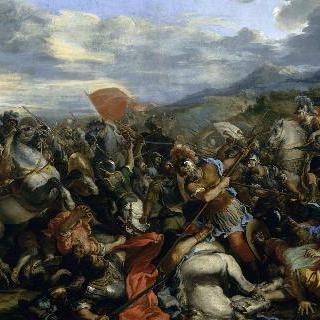 아르벨 전투에서 다리우스를 정복한 알렉산더 황제