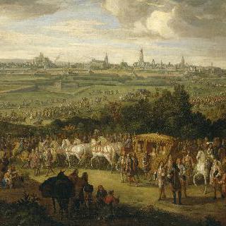1667년 7월 30일 아라스에 도착하는 루이 14세와 마리-테레즈