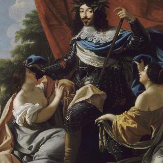 갑옷을 입은 루이 13세 (1601-1643)의 우의적 초상