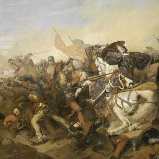 1328년 8월 23일 카셀 전투에서 네덜란드 군대를 무찌른 필립 드 발루아 6세