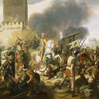 886년 노르만 인들로부터 파리를 지키는 외드 백작