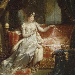 잠자는 로마의 왕을 돌보는 마리 루이즈 황후
