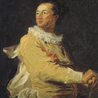 안느-프랑수아 다르쿠르의 초상, 이탈리아 희극 등장인물 복장을 한 뵈브롱가의 공작