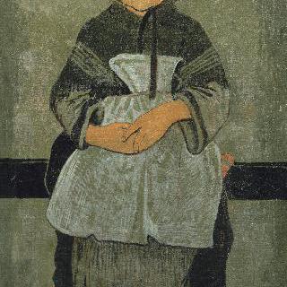 앉아있는 어린 브르타뉴 소녀, 마리 프랑시자이의 초상