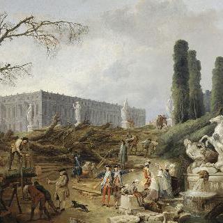 아폴론의 목욕탕으로 알려진 보스케의 전경