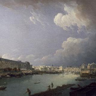 파리의 센 강에서 바라본 퐁루아얄이 보이는 전경