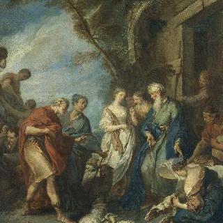아브라함의 하인을 맞이하는 브두엘