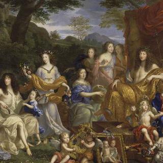 1670년 그리스 신화 속 인물 복장을 하고 있는 루이 14세의 왕실가족