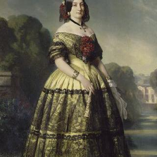 스페인 공주 도나 마리-루이즈 페르디난드 드 부르봉, 몽펑시에 공작부인의 1846년 초상