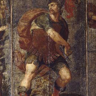 가죽 벽지화, 로마의 영웅들, 티투스 망리우스 토르콰투스