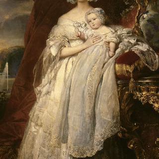 엘렌 루이즈 드 메클렘부르그-슈에린 (1814-1858)과 그녀의 아들