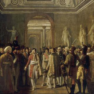 1804년 12월 8일 대관식 이후, 루브르에서 군 대표자들을 맞이하는 나폴레옹 1세
