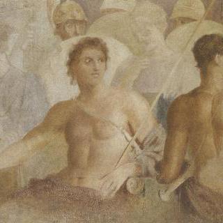고대 프레스코화 모작 : 브리세이스의 출발