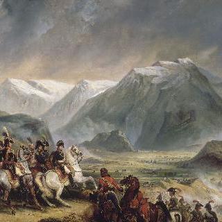1797년 1월 14일 리볼리 전투에서 그의 사령관과 동행한 보나파르트장군