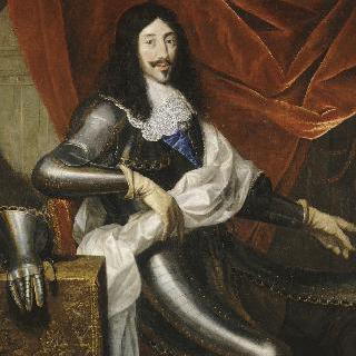 탁자 옆에 갑옷을 입고 앉은 루이 13세 (1601-1649)
