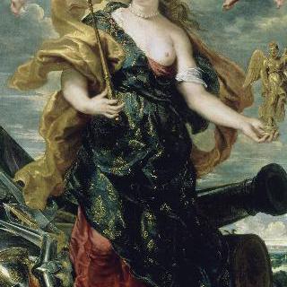 싸움의 신 벨로나 복장을 한 마리 드 메디시스의 초상
