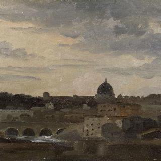 폭풍 치는 날 로마 풍경