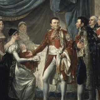 1811년 3월 20일 제국의 고관들에게 로마의 왕을 소개하는 나폴레옹 1세