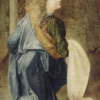 베로키오 작품 모사 : 세례 받는 예수 곁의 천사
