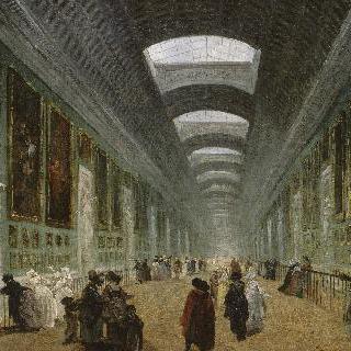 1789년 경, 루브르 대회랑 (그랑드 갤러리) 보수 계획