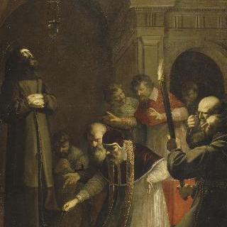 1449년 경, 성 프란체스코 다시즈의 지하 매장터를 여는 파프 니콜라 5세