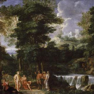 아폴론과 마이다스 앞에서 플루트를 연주하는 마르시아스
