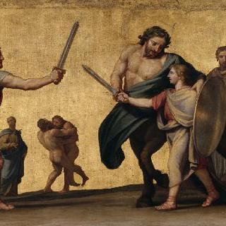 아킬레우스의 교육, 무기 수업