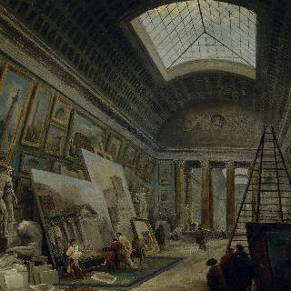 박물관 갤러리 (루브르박물관 대회랑 상상도)