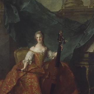 비올라를 연주하고 있는 앙리에트 드 프랑스 공주
