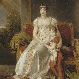 네덜란드의 여왕 오르탕즈 드 보아르네와 그녀의 아들