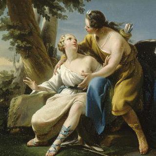다이아나의 모습으로 변신하여 칼리스토를 놀라게 한 제우스
