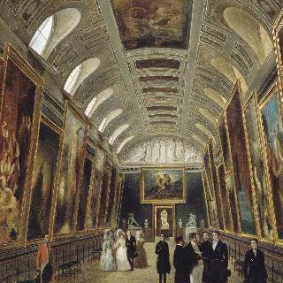 루이 필립과 마리 아멜리, 뤽상부르 미술관을 방문한 궁정 사람들