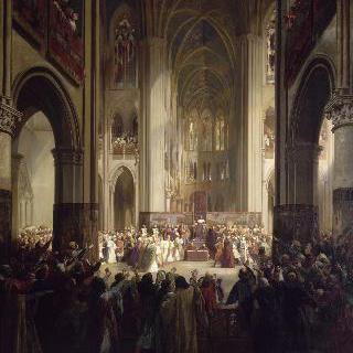 1328년 2월 1일, 샤를 4세의 죽음 후, 노트르 담 드 파리에 모인 파리의 삼부회
